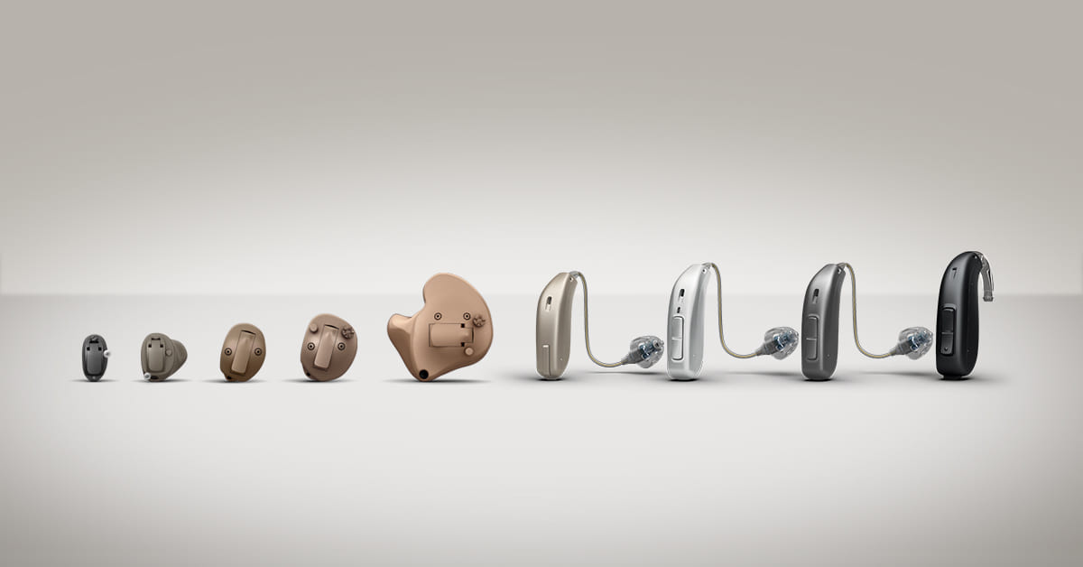 line of models of hearing aids