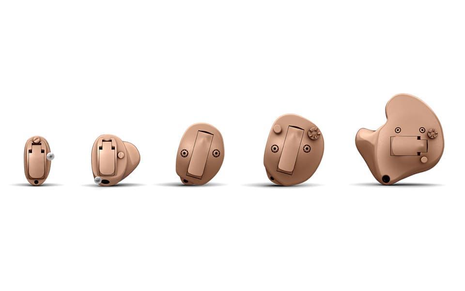 Small internal hearing aids