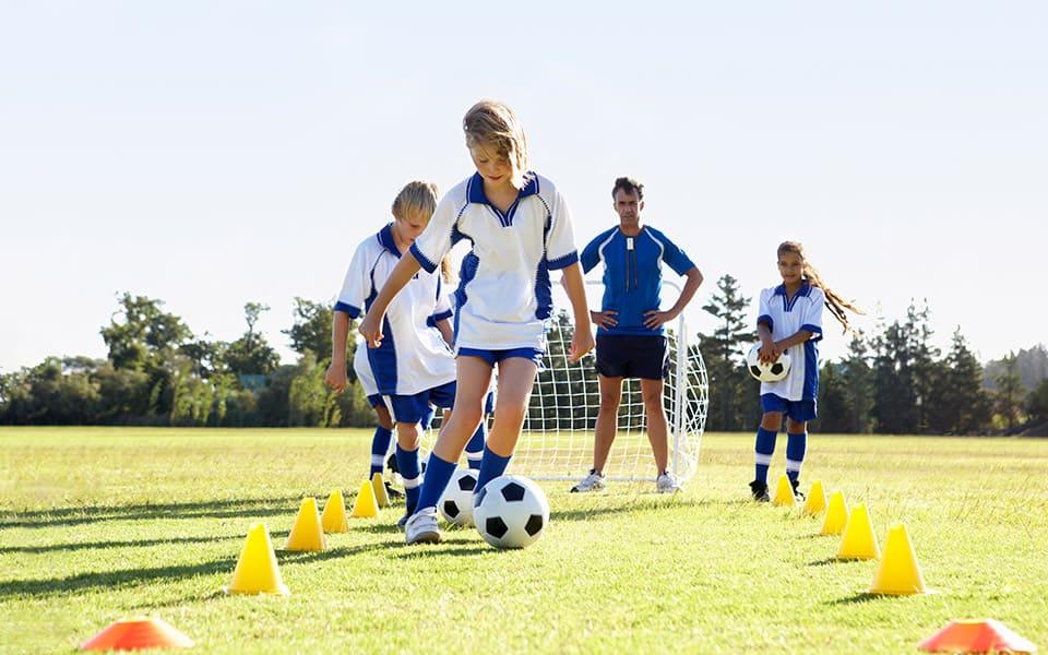 deaf girls playing football